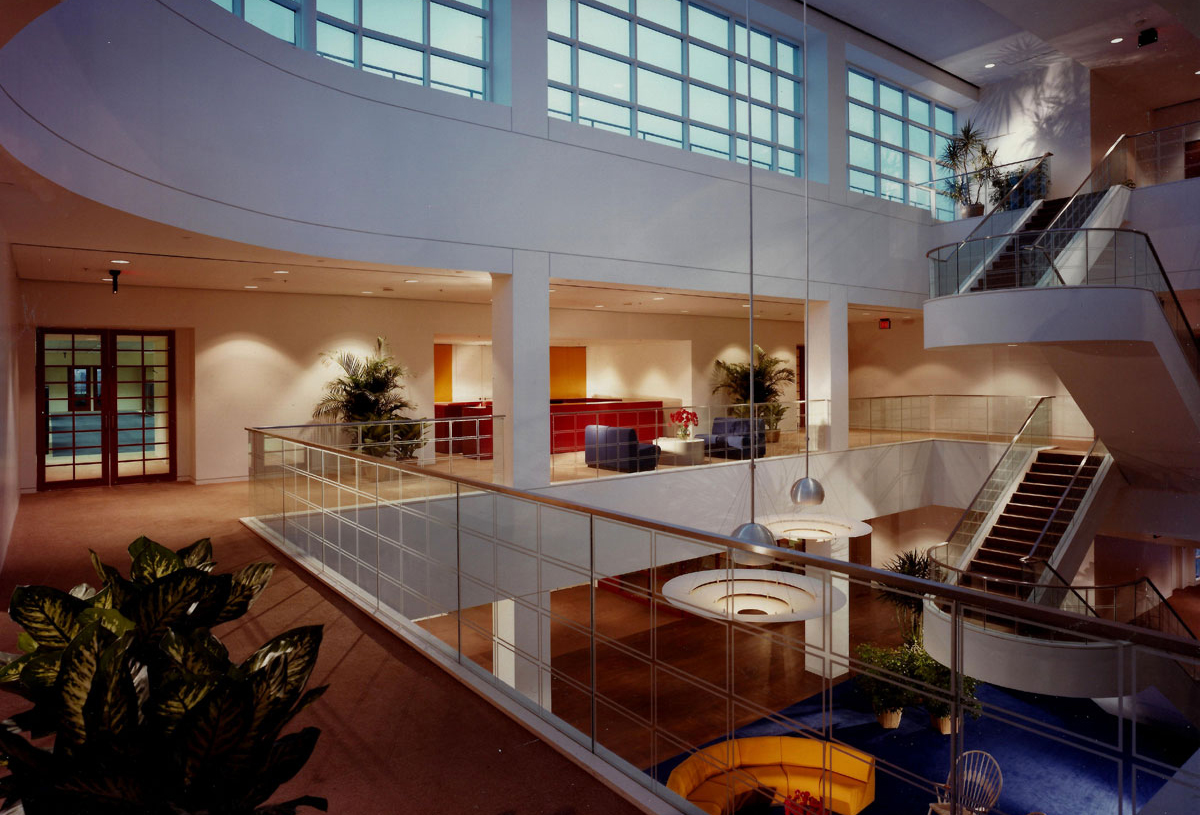 Publishing company – new 3 storey atrium linking a new office addition to an existing building.