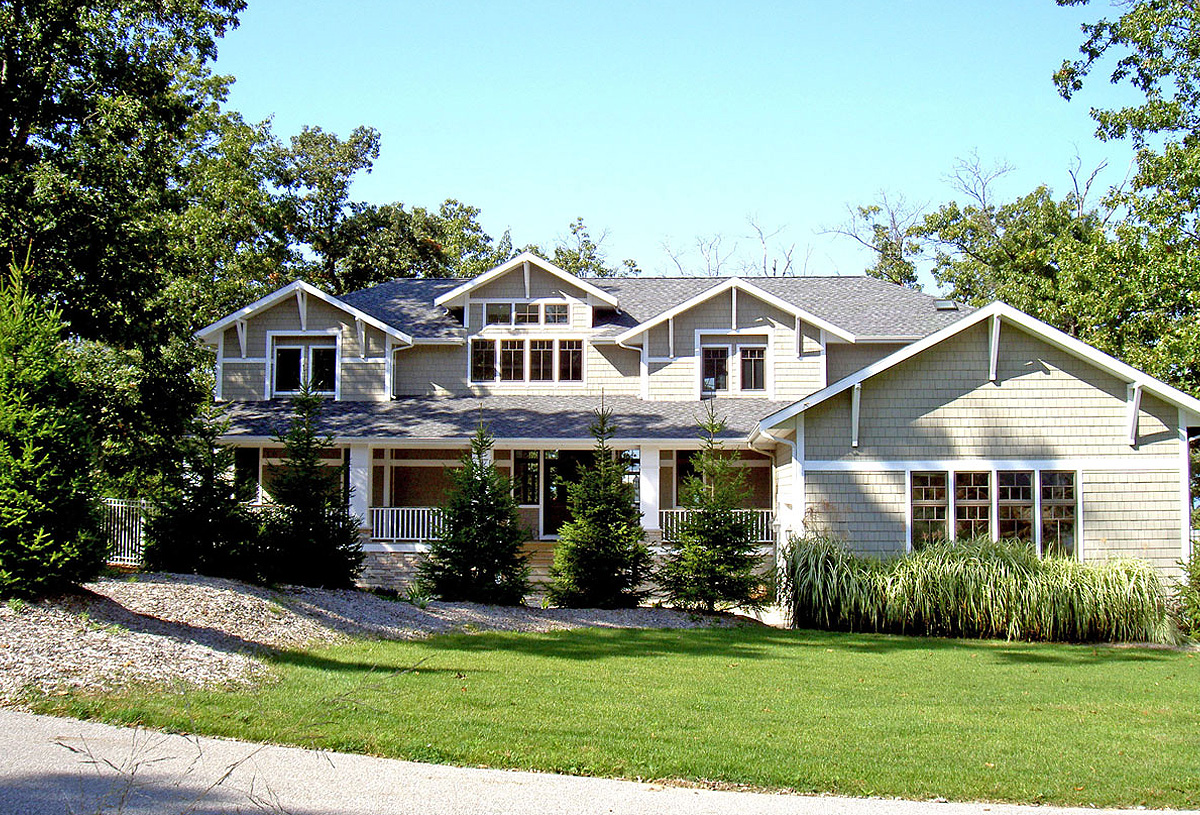 Traditional 3,500 sq. ft. residence; craftsman style.