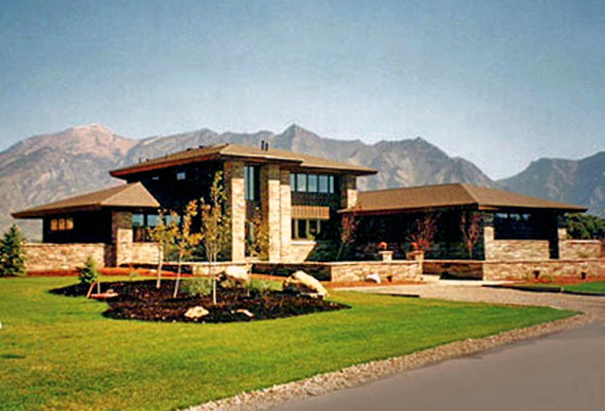 Modernist style two storey residence of 3,400 sq. ft. in desert setting.